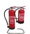 DOUBLE CHROME PLATED STAND FOR FIRE EXTINGUISHER - UK