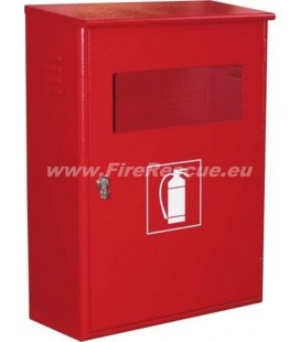 FIRE EXTINGUISHER SMART CABINET FOR TWO 9-12 KG/L WITH CLOSING PIN