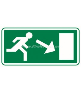 EVACUATION PLATE DOWNWARD RIGHT