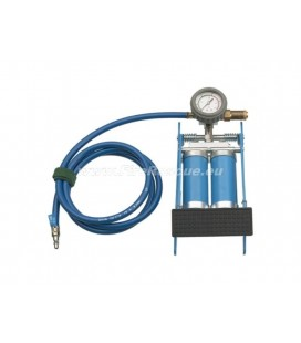 FOOTPUMP WITH DOUBLE CYLINDER FOR SQ BAG (V-COUPLINGS)